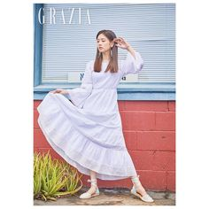 Jung so min 2019 Jung So Min, Blackpink Jennie, Korean Fashion, White Dress, How To Wear, Color, Beauty, Beautiful, Instagram