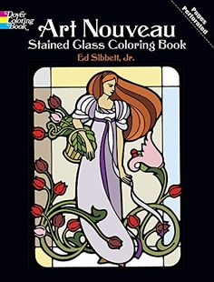 Art Nouveau Stained Glass Coloring Book (Dover Design Stained Glass Coloring Book) by Ed Sibbett Jr. http://www.amazon.com/dp/0486233995/ref=cm_sw_r_pi_dp_R66Bvb1CRMN8N