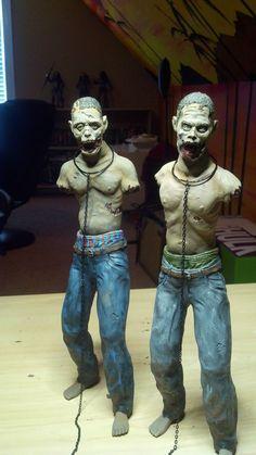 Want!! #Walkers #michonne #thewalkingdead #etsy #badass Walking Dead  Michonne's Zombie Pets  Full Figures by CallahanToys, $199.95