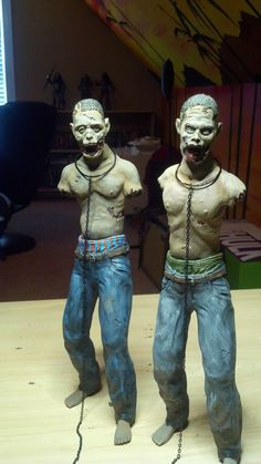 Undead Walkers - Michonne's Zombie Pets - Full Figures 1/6 Scale - Custom Made Custom Painted