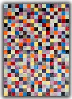 Skind tæppe i multi toner - Skind tæppe i multi toner-140 x 200 cm. - Din tæppekæde.dk