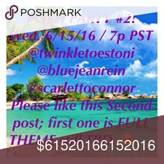 """TOMORROW 6/15! @ 7 PM PST! THEME ANNOUNCEMENT- """"Classic Chic"""" love it!1ST LISTING IS FULL, PLEASE LIKE THIS ONE. TonisTwinkles Other"""