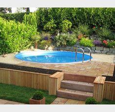 Was gibt es Schöneres als an einem heißen Sommertag in den eigenen Pool zu springen? #gartenpool #pool