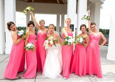 Carroll university wedding, weddings, Milwaukee weddings, Wisconsin wedding, fun poses, fun wedding poses, pink bridesmaid dresses,  Milwaukee photographer