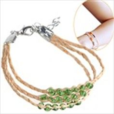 Wishing Grass Straw String Fortune Bracelet with Pendants for Girls Women Ladies Valentine Gift - Assorted Pendant
