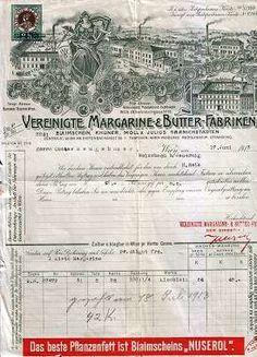 Wien - Vereinigte Margarine- & Butter-Fabriken. Rechnung von 1913