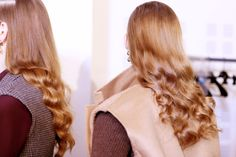 """Lucia Pieroni and Eugene Souleiman create intelligent, layered, """"handsome-beautiful"""" women Soft Curls, Got The Look, Perfect Curls, Ginger Hair, Catwalk, Hair Makeup, Handsome, Beautiful Women, Long Hair Styles"""