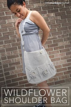 PDF CROCHET PATTERN: The Wildflower Shoulder Bag Language: American Standard Difficulty Level: Easy - - - - - The Wildflower Shoulder Bag is a gorgeous crochet pattern for an incredibly versatile purse. It doesnt matter what yarn or hook size you use, the pattern will work; use
