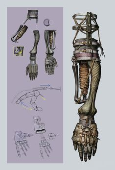 View an image titled 'Shinobi Prosthetic Arm Art' in our Sekiro: Shadows Die Twice art gallery featuring official character designs, concept art, and promo pictures. Weapon Concept Art, Armor Concept, Robot Concept Art, Character Concept, Character Art, Arte Dark Souls, Arte Robot, Arm Art, Fantasy Weapons