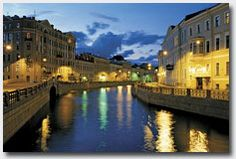 The canals in St Petersburg Russia