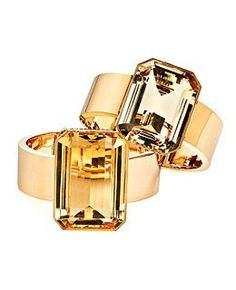 Taffin gold and citrine cuffs