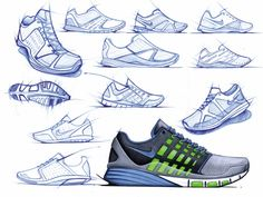 Sketches we like / pencil Sketch / Analog rendering / Sneakers / Concept / atz conceptkicks