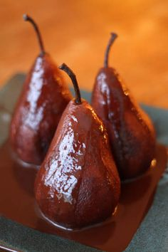 Chocolate Poached Pears! — Zoe Bakes