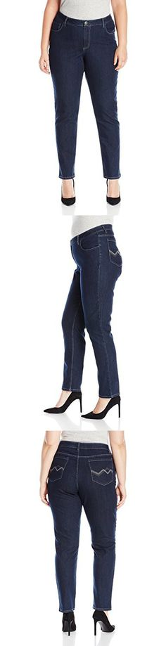 5a0223e0ff190 Riders by Lee Indigo Women s Plus-Size Fit No Gap Waistband Straight ...