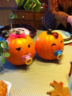 Baby Pumpkins | DIY Fall Baby Shower Ideas for Boys