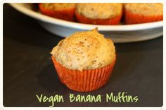 Vegan Banana Muffins via @S Wol Ford With Tongs/ // #banana #vegan #muffins