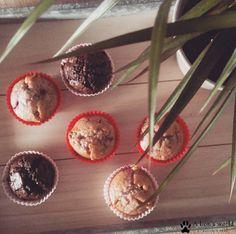 Leckere Schoko-Bananen und Weiße Schokolade-Himbeer-Muffins! :)