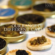We stock a complete range of caviar including Beluga, Sturgeon, Oscietra and Sevruga roe. Explore our complete collection of delicious premium caviar today and enjoy next-day UK/EU delivery and same-day London delivery, from Fine Food Specialist. Best Caviar, Seafood Appetizers, Treat Yourself, Followers, Cheesecake, Range, Party Ideas, Treats, Explore