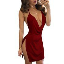 Shop a great selection of VANCOL Women's Sexy Deep V-Neck Halter Backless Slit Mini Party Club Dress. Find new offer and Similar products for VANCOL Women's Sexy Deep V-Neck Halter Backless Slit Mini Party Club Dress. Sexy Outfits, Sexy Dresses, Dresses For Teens, Tight Dresses, Club Dresses, Beautiful Dresses, Dress Outfits, Nice Dresses, Fashion Outfits