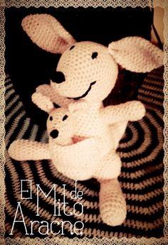 Canguro mama con canguro en bb realizados en lana y relleno soft