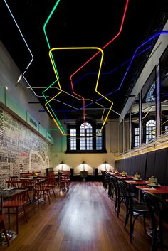 Byron (Haymarket) restaurant in London, UK by Michaelis Boyd Associates