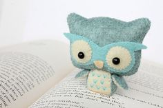 Patterns Felt Owl Plush by typingwithtea on Etsy