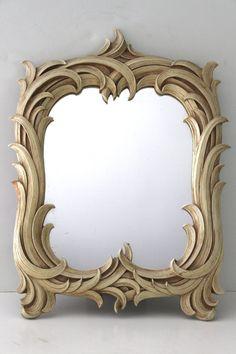 Vintage Syroco Wood Mirror by OfAllTheFishVintage on Etsy, $85.00