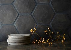 New, black terracotta clay tiles from Clé in Marin County, California, are inspired by Belgian masters Axel Vervoordt and Vincent Van Duysen.