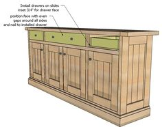 Ana White   Build a Planked Wood Sideboard   Free and Easy DIY Project and Furniture Plans