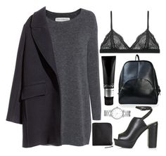 """""""Untitled #102"""" by veronika-m ❤ liked on Polyvore featuring Fine Collection, H&M, TIGI, Marc by Marc Jacobs, Topshop, Cosabella and Comme des Garçons"""