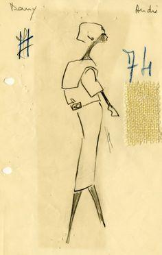 1951, sack dress silhouette, Balenciaga