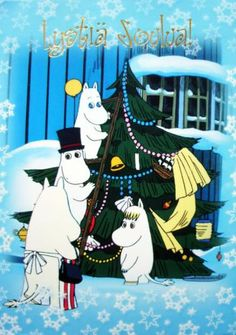 World of Postcards: Finland: Moomin Christmas Christmas Time, Christmas Cards, Christmas Ideas, Merry Christmas, Moomin Valley, Tove Jansson, Unique Image, A Comics, Fairy Tales