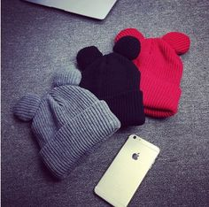 2016 Autumn Winter New Brand Women Knitted Beanies Hat New Fashion Cat Ears Women's Hat Knitted Caps Warm Skullies Gorros #>=#>=#>=#>=#> Click on the pin to check out discount price, color, size, shipping, etc. Save and like it!