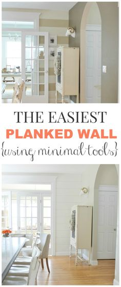 The Easiest Planked Wall Using Minimal Tools via City Farmhouse