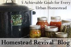 Homestead Revival: Inspiration Friday: 5 Achievable Goals for Every U...