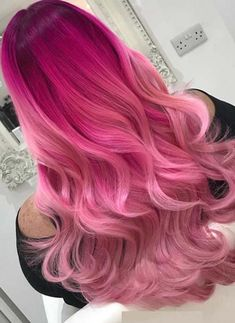 See here and get inspire for your next hair colors appointment. We are going to show you here the amazing ideas of pink ombre hair colors for long and medium hair in 2018. You may see here why ombre can be used with various hair colors. This is one of the bold and daring hair colors for fashionable and modern women.