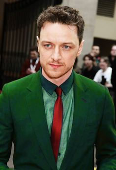 James McAvoy he looks good in green!