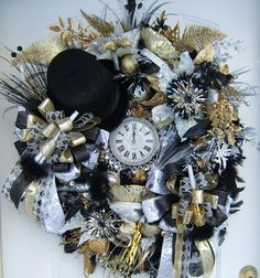Reserved listing New Years werath 2015 by WreathsbyKimberly, $225.00