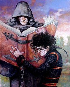 Sandman: Morpheus and Destiny Painting  Artist: MichaelZulli (All)