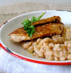 Quick Dukkah-crusted Chicken with White Bean Mash - Sarah Graham Food Healthy Family Meals, Healthy Recipes, Sarah Graham, Egyptian Food, Crusted Chicken, Delicious Dinner Recipes, White Beans, Dinner Menu, Eating Habits