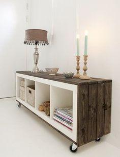 Cómo transformar muebles de Ikea tunear estanterías Ikea Expedit con palets 1