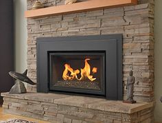 15 new ideas for wood burning stove fireplace insert mantles - Wood Burning Fireplace Inserts Fireplace Logs, Fireplace Shelves, Fireplace Design, Fireplace Ideas, Gas Fireplaces, Fireplace Remodel, Insert Stove, Gas Insert, Houses