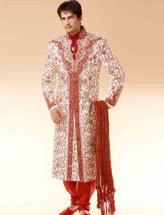 man elegant wedding Indian Groom sherwani