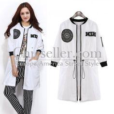ChicSeller White Long Sleeve Sun Block Outerwear