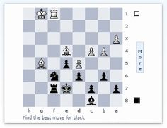 Daily Chess Puzzle - a chess challenge for you to solve. A new chess puzzle every day.