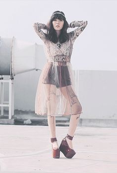 Sonia Eryka wearing bebaroque Tattooed Lady Lux Body Suit