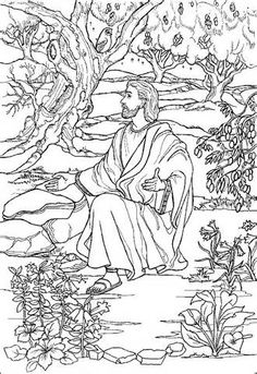 garden of gethsemane coloring - images - Bloguez.com
