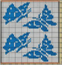 Potholder Butterflies by Regina Schoenfeldt - a free crochet pattern as download on Ravelry