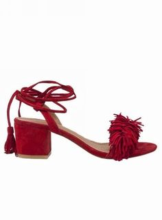 POM POM Tassel and Fringe Sandals - 5 cm @ shopjessicabuurman.com