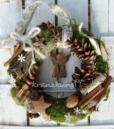 ♥Wald-Engel♥ Türkranz Weihnachten LANDHAUS SHABBY von ♥♥ kranzkunst ♥♥ auf DaWanda.com